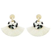 Panacea Leopard Mini Tassel Earrings
