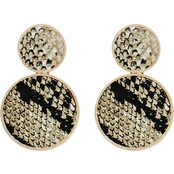 Panacea Animal Print Round Post Earrings