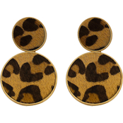 Panacea Animal Print Round Earrings
