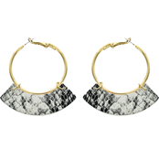 Panacea Snake Hoop Earrings