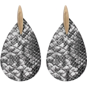 Panacea Snake Teardrop Post Earrings
