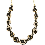Panacea Leopard Print Fabric Necklace