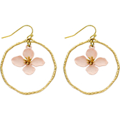 Panacea Flower Hoop Earrings