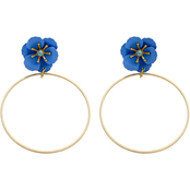 Panacea Flower Post Hoop Earring