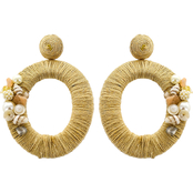 Panacea Shell and Rope Oval Statement Earrings