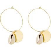 Panacea Shell Disk Hoop Earrings