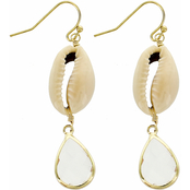Panacea Shell and Crystal Drop Earrings