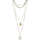 Panacea Shell and Stone Layered Necklace