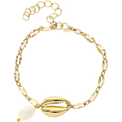 Panacea Goldtone Chain and Shell Bracelet