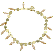 Panacea Ivory Crystal Anklet