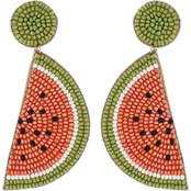 Panacea Watermelon Beaded Earrings