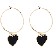 Panacea Enamel Heart Earrings