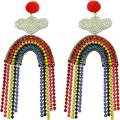 Panacea Rainbow Beaded Earrings