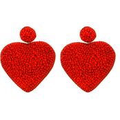 Panacea Heart Beaded Earrings