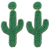 Panacea Cactus Beaded Earrings