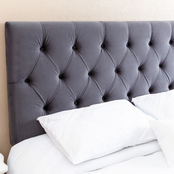 Abbyson Connie Tufted Velvet Full / Queen Headboard
