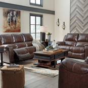 Signature Design by Ashley Rackingburg Reclining Sofa, Loveseat and Rocker Recliner