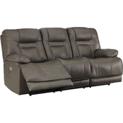 Signature Design by Ashley Wurstrow Power Reclining Sofa with Adjustable Headrest