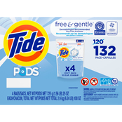 Tide Pods Free and Gentle 132 ct
