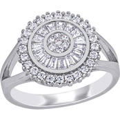 Cubic Zirconia Double Halo Ring