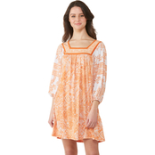 Michael Kors Paisley Square Neck Border Dress