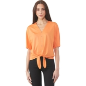 Michael Kors Button Front Tie Hem Top