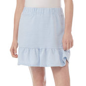 Michael Kors Pinstripe Ruffle Mini Skirt
