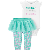 Carter's Infant Girls 3 pc. Mermaid Bodysuit and Tutu Pants Set
