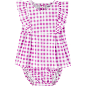 Carter's Infant Girls Gingham Jersey Sunsuit