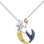 She Shines 14K Gold Over Sterling Silver 1/5 CTW Diamond Mermaid Necklace