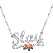 She Shines 14K Gold Over Sterling Silver Diamond Accent Slay Necklace