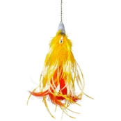 Leaps & Bounds EZ Snap Flip Feather Cat Teaser Toy Refill 14 in.