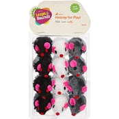 Leaps & Bounds Fuzzy Mice Cat Toy with Catnip 12 pk.
