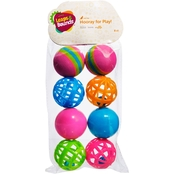 Leaps & Bounds Variety Pack of Balls Cat Toys 8 pk.