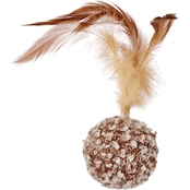 Leaps & Bounds Ball with Feather Cat Toy
