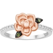 She Shines 14K Over Sterling Silver 1/7 CTW Diamond Rose Ring