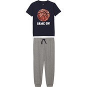 Gumballs Toddler Boys Basketball Sequin Shirt and Jogger Pants 2 pc. Set