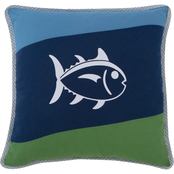 Southern Tide Sailor Stripe 18 in. Square Multi Decorative Pillow