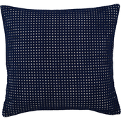 Southern Tide Bayside 16 in. Square Navy Eyelet Decorative Pillow