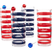 Martha Stewart Collection Americana Acrylic Tom Collins Glasses and Stirrer Sticks