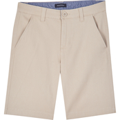 Nautica Kids Boys Connor Solid Stretch Twill Flat Front Shorts