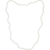 Cherish 6mm White Faux Pearl 36 in. Long Necklace
