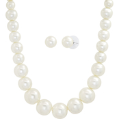 Cherish Faux Pearl Necklace and Earring Set