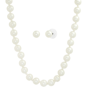 Cherish Faux Pearl Long Necklace and Earring Set