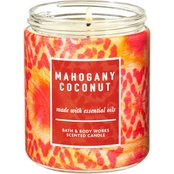 Bath & Body Works Island Living: Single Wick Candle Mahogany Coconut