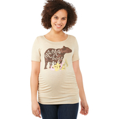 Planet Motherhood Maternity Mama Bear Screen Printed Baseball Tee