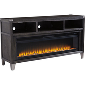 Signature Design by Ashley Todoe Large 65 in. TV Stand with Fireplace Insert