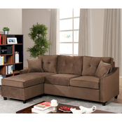 Furniture of America Hakin Corner Sofa