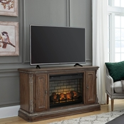 Signature Design by Ashley Charmond TV Stand with Fireplace Insert
