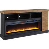 Signature Design by Ashley Tonnari 131 in. TV Stand with Fireplace Insert